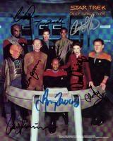 Star Trek Deep Space Nine - complete crew signed photo
