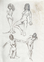 George Martin - original erotic nude art sketches