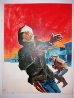 #01. Original Cover painting Western novel  U.S. Marshal 314