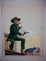 #03. Original Cover painting Western novel U.S. Marshal #273