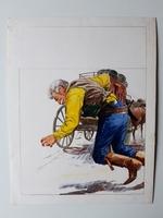 #48. Original Cover painting Western novel U.S. Marshal #268