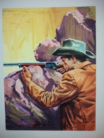 #79. Original Cover painting Western novel Rurales #159