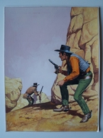#02. Original Cover painting Western novel Caravana #204