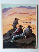 #12. Original Cover painting Western novel U.S. Marshal #35