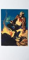 #122. Original Cover painting western novel Rurales #49