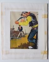 #124. Original Cover painting Western novel Cuatreros #183