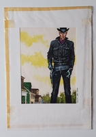 #125. Original Cover painting Western novel Oeste #184