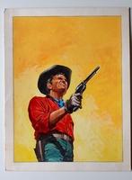 #126. Original Cover painting western novel U.S.Marshal #252