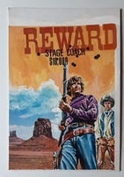 #127. Original Cover painting Western novel Oeste #590