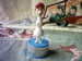 The Flintstones vintage push puppet Wilma