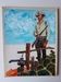 #30. Original Cover painting Western novel Caravana #60