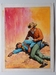 #130. Original Cover painting western novel Oeste #1167